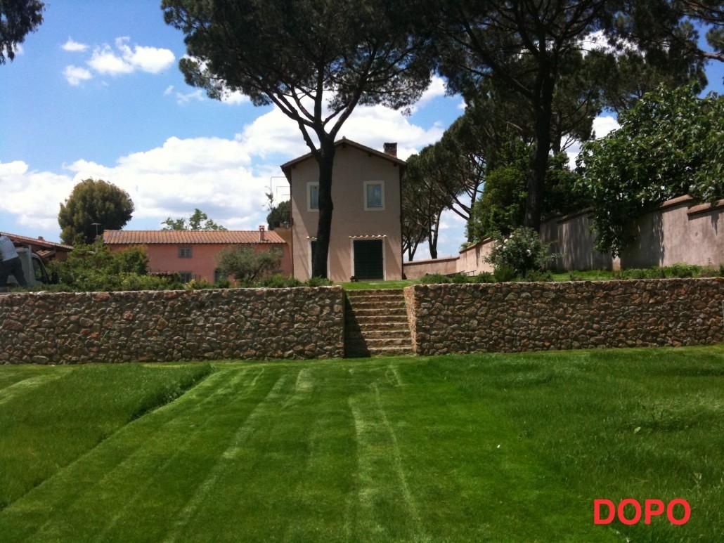 Ristrutturazione di un giardino preesistente zona for Progettazione giardini roma