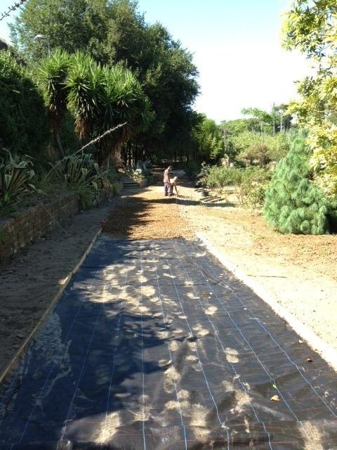 Giardino privato in via del mandrione roma e green for Progettazione giardini roma