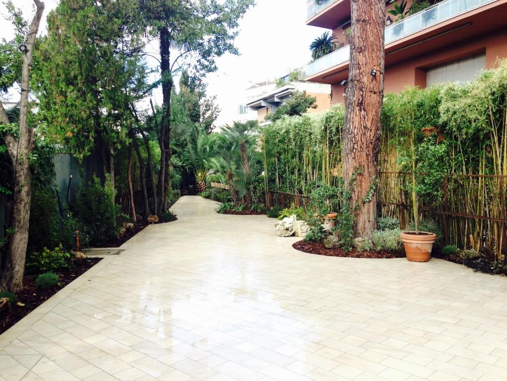 Giardino privato parioli roma e green realizzazione e for Progettazione giardini roma