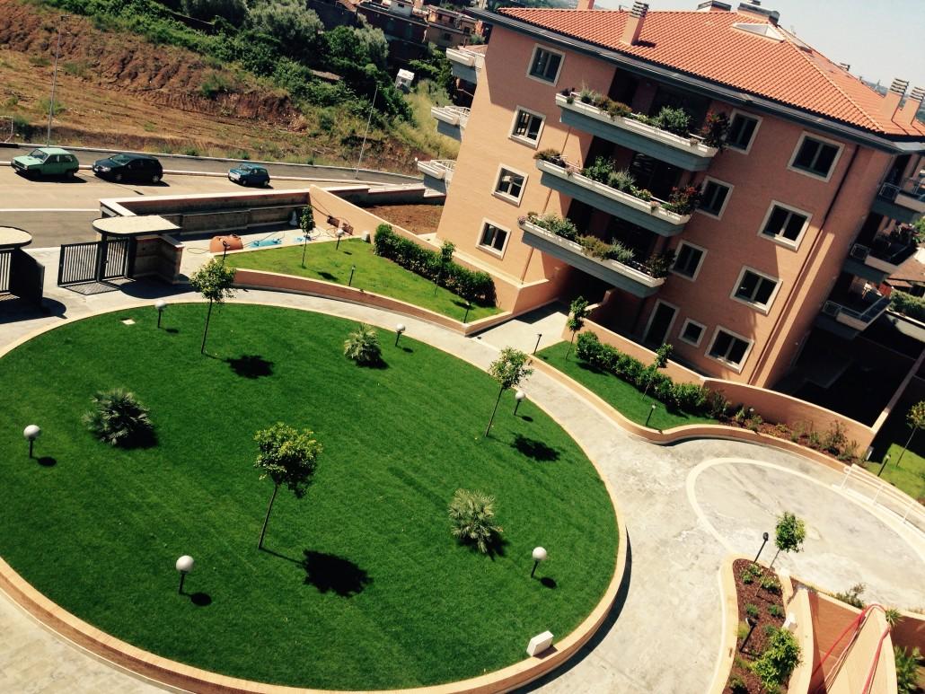 Aree verdi complesso immobiliare settebagni e green for Progettazione giardini roma